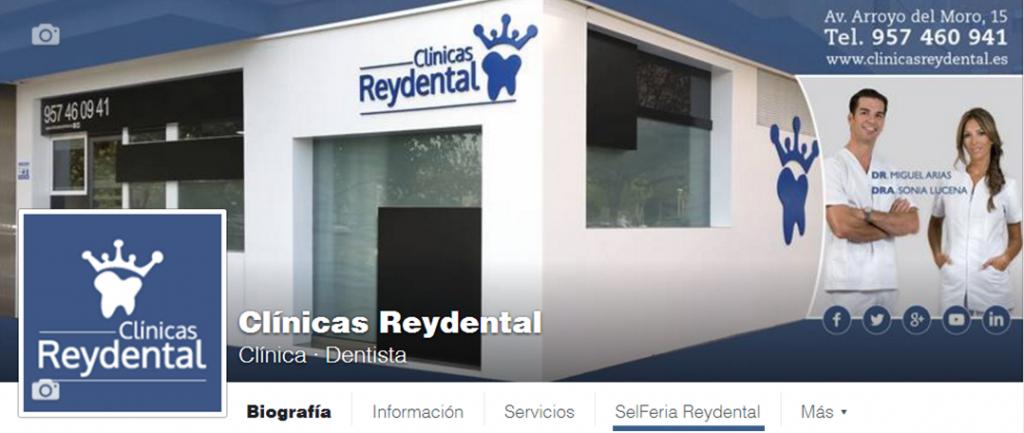 fanpage Clínicas Reydental